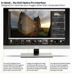 The Optics Pro 8 user interface