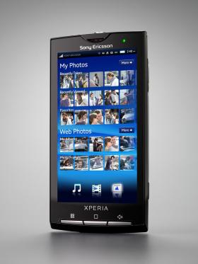 Sony Ericsson Xperia X10 handset smartphone.
