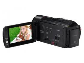 Canon Legria HF M32 with screen out ready to shoot