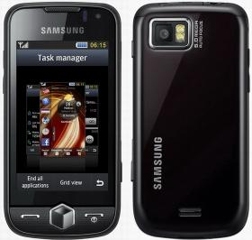 Samsung Jet/S8000 with sleek s=design and back showing.