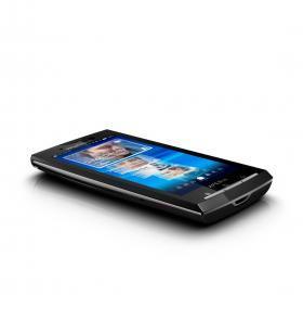 Sony Ericsson Xperia X10 has sleek, stylish lines.